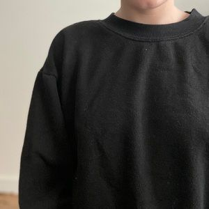 Cropped Pullover / Black